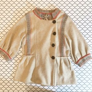 Free People Button Up Wool Sweater (L)